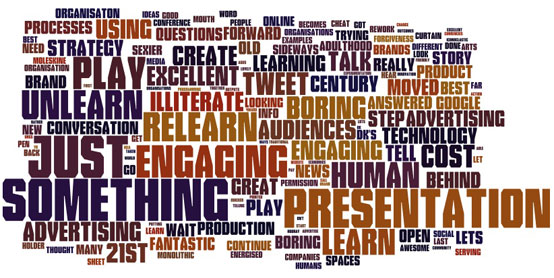 Shift Happen 2010 Wordle